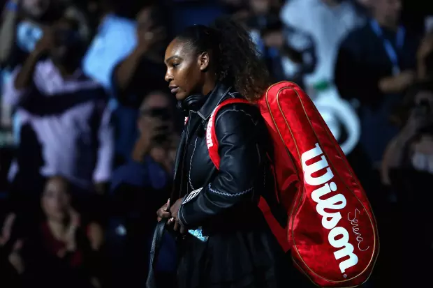 SERENA WILLIAMS BEING THE GOAT IN OFF-WHITE AT THE 2018 U.S. OPEN
