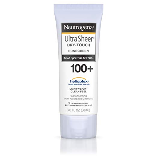 Neutrogena Ultra Sheer Dry-Touch Non-Greasy Sunscreen with SPF 100+