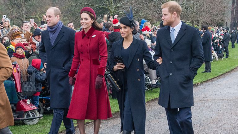 Meghan, Kate, Harry and William