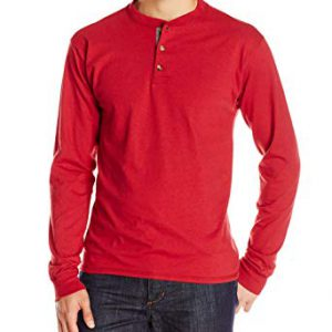 Long-Sleeve Beefy Henley T-Shirt By Hanes