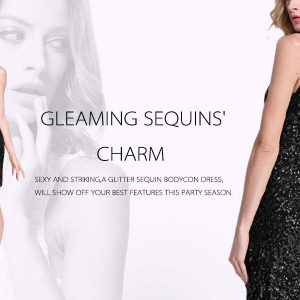 Sequin Glitter Bodycon Stretchy Mini Party Dress