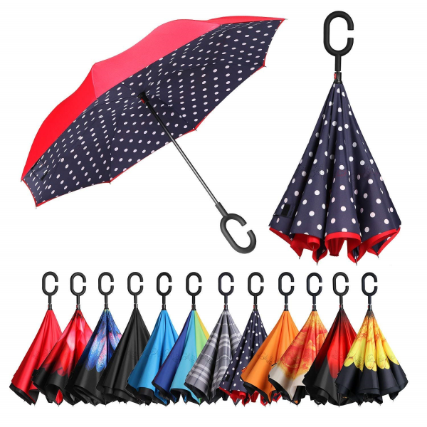 Double Layer Windproof UV Protection Umbrella