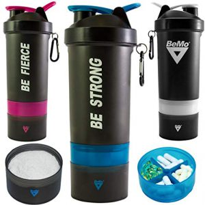 Bottle Shaker Cup with Protein Powder Storage