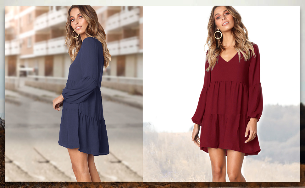 Spring long sleeve dress