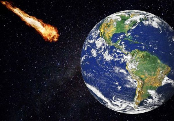 A near-Earth asteroid approaching our planet.
