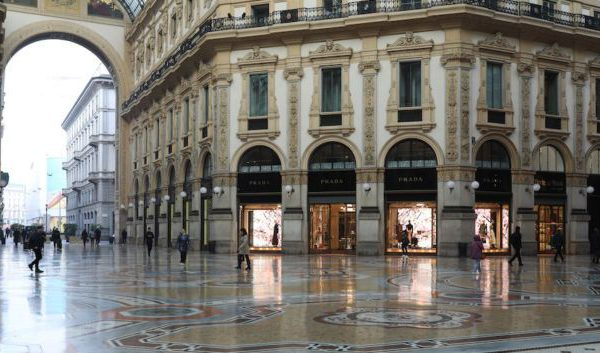 Milan City Center stands empty.