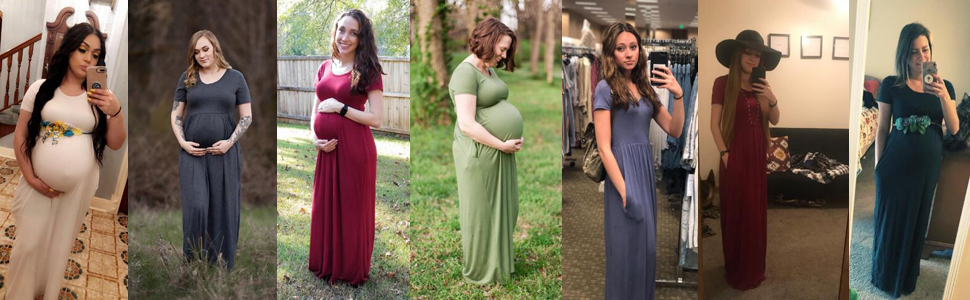 maternity casual dresses with pocket