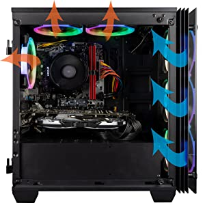 Superior Cooling with 6 high airflow fans