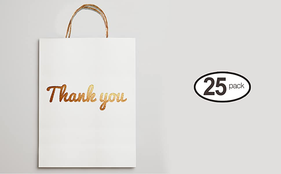 gold thank you bags