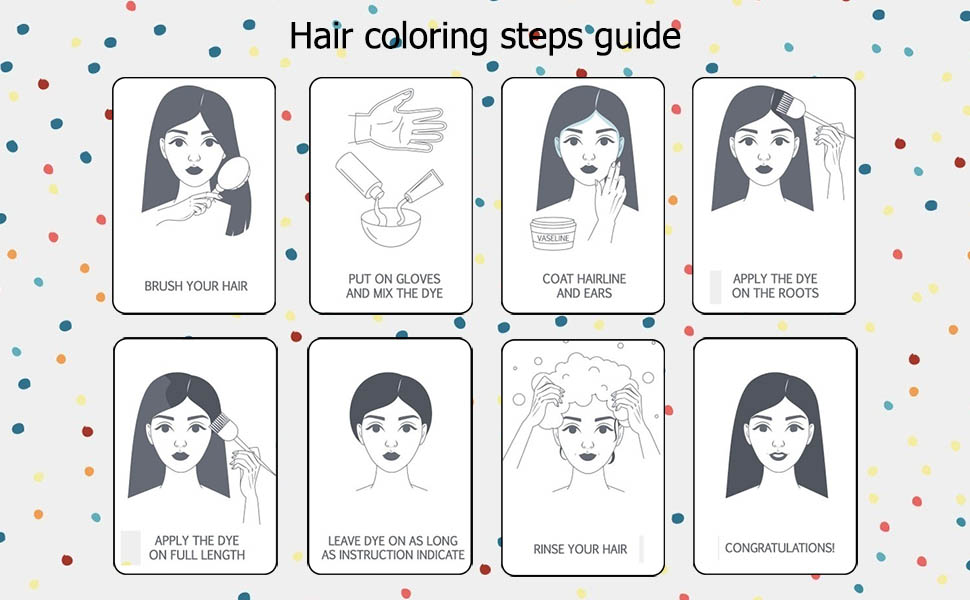 hair dye coloring kit
