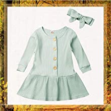 button dress with bowknot
