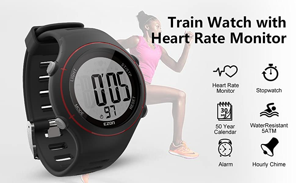 Digital Sport Watch With Heart Rate Monitor