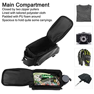 bike back rack bag cargo bag for bicycle delivery bike bag trunk bags for bicycles bike lunch bag