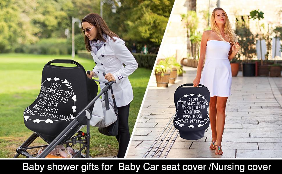 Nursing Cover Breastfeeding Cover Stretchy Car Seat Cover for Babies Soft Breathable Infant  Canopy